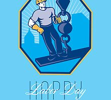 Have a Great Labor Day Retro Greeting Card by patrimonio