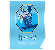 Have a Great Labor Day Retro Greeting Card Poster