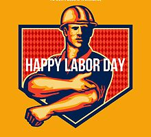 Labor Day Greeting Card Poster by patrimonio