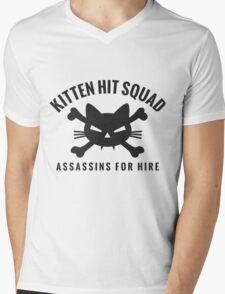 Kitten Hit Squad Mens V-Neck T-Shirt