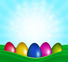 Easter Color Eggs by Olga Altunina
