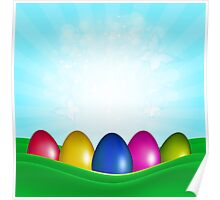 Easter Color Eggs Poster