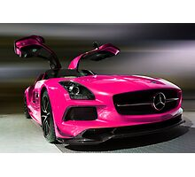 Pink 2014 MERCEDEZ BENZ SLS AMG Photographic Print