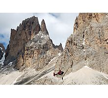 Hanging in the Dolomites Photographic Print
