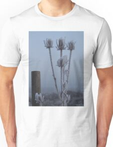 Teasel in the freezing fog Unisex T-Shirt