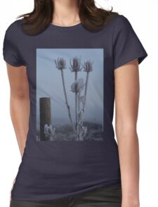 Teasel in the freezing fog Womens Fitted T-Shirt