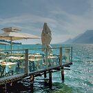 Storm on lake Garda by Arie Koene