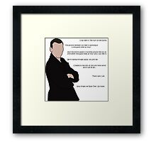 Doctor Who - Falling Through Space, You and Me Framed Print