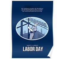 Celebrating Labor Day Greeting Card Poster