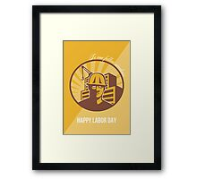 Our Fellow Workers Labor Day Poster Retro Framed Print