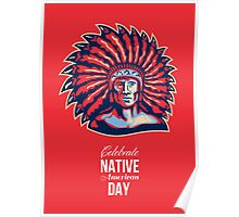 Native American Day Celebration Retro Poster Card Poster