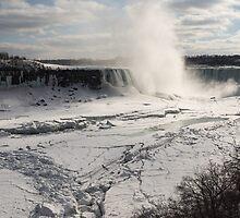 Winter Wonderland - Spectacular Niagara Falls Ice Buildup  by Georgia Mizuleva
