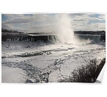 Winter Wonderland - Spectacular Niagara Falls Ice Buildup  Poster