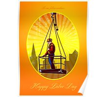 Happy Labor Day Our Fellow Workers Greeting Card Poster
