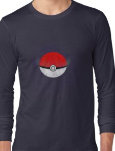 Pokemon Poison Type Pokeball with sleep powder leaking out Long Sleeve T-Shirt