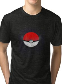 Pokemon Poison Type Pokeball with sleep powder leaking out Tri-blend T-Shirt