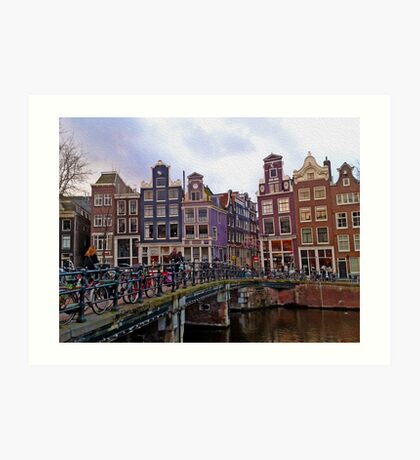 By the Canal - Amsterdam, Holland. Art Print