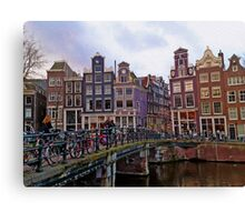 By the Canal - Amsterdam, Holland. Canvas Print