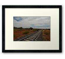 Railway Line -Northern Territory Australia Framed Print