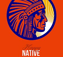 Happy Native American Day Remembrance Greeting Card by patrimonio