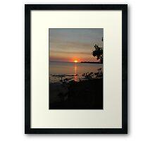 Sunset Darwin Australia Framed Print