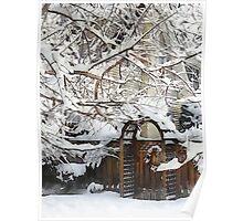 Garden Gate in Winter Poster