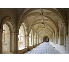 Arcade of abbey of Fontrevaud Photographic Print