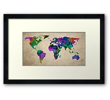 MAP of the WORLD ANTIQUE Framed Print