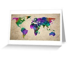 MAP of the WORLD ANTIQUE Greeting Card
