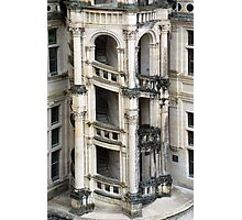Staircase Chambord France Photographic Print