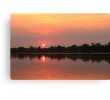 Smokey Red Sunrise - Lakes Entrance Victoria Canvas Print