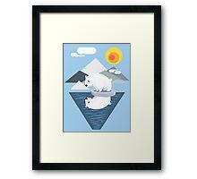 Polar Bear Dilemma Framed Print
