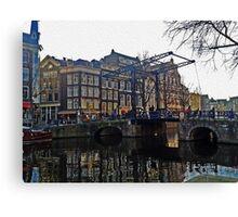 Draw Bridge in Amsterdam Canvas Print