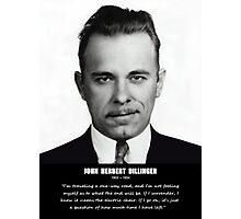 JOHN DILLINGER Photographic Print