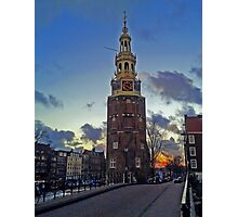 The Clock Tower of Amsterdam Photographic Print