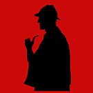 Sherlock Holmes iPhone case red by Ian Fox
