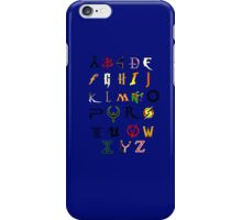 The alphabet of Geekdom iPhone Case/Skin