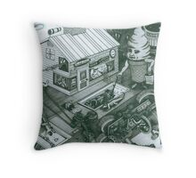 A Sundae In The Park With George Throw Pillow