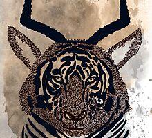 Tiger - antelope by Milena Taranu