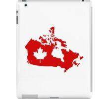 Canada map maple leaf iPad Case/Skin