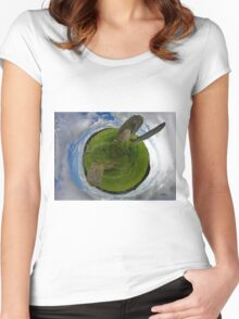 Beltany Stone Circle, Donegal Women's Fitted Scoop T-Shirt