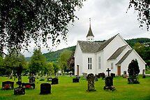 The church of Ulvik - Norway by Arie Koene