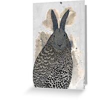 Hare - owl Greeting Card