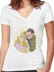 Banana baby Women's Fitted V-Neck T-Shirt