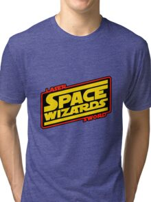 LASER SWORD SPACE WIZARDS Tri-blend T-Shirt