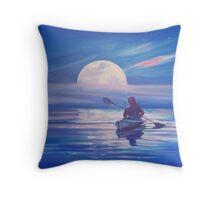 Moon Path Throw Pillow