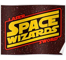 LASER SWORD SPACE WIZARDS Poster