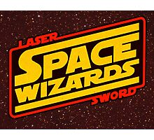 LASER SWORD SPACE WIZARDS Photographic Print
