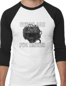 Wings Are For Faries Men's Baseball ¾ T-Shirt