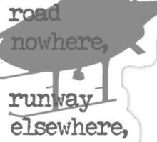 A Mile of Roads Sticker